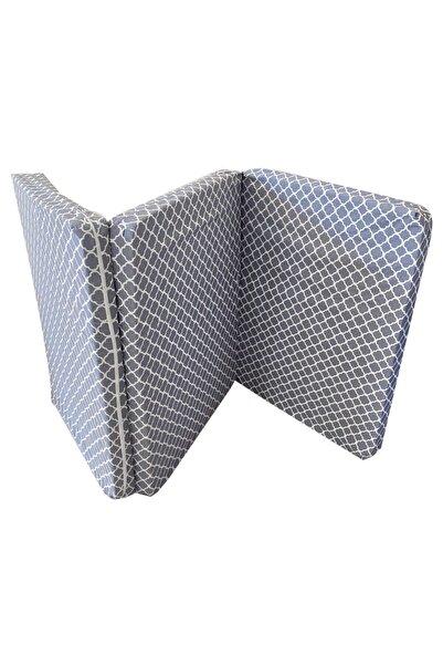 Vip Home Concept Market Ürünleri Tek Kişilik Katlanır Yer Yatağı Sünger Yatak Gri Çatı 80x180 Cm-7 Cm