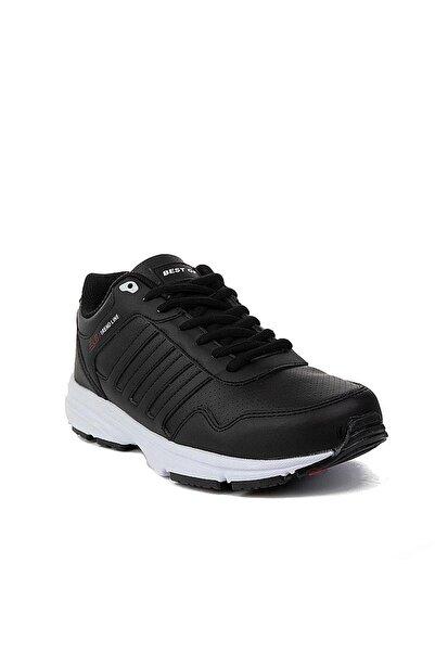 Cheta Unisex Siyah Beyaz Bağcıklı Spor Ayakkabı