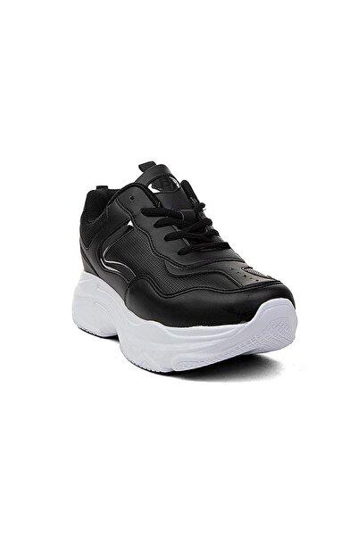 Cheta Kadın Siyah Beyaz Anatomik Spor Ayakkabı 053