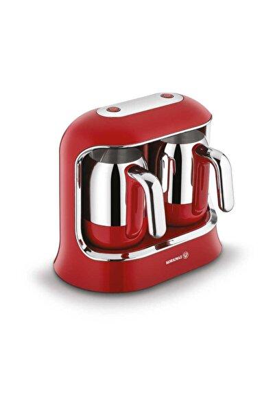 KORKMAZ Kahvekolik Twin Kahve Makinesi Kırmızı Krom A861