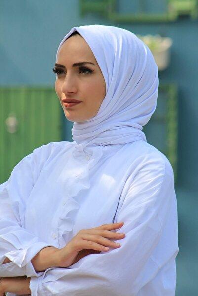 KETEN OFFİCİAL Kadın Luxury Beyaz Penye Şal