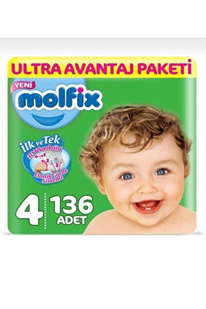 Molfix 4 Beden 136 Adet Bebek Bezi Ultra Avantaj Paketi