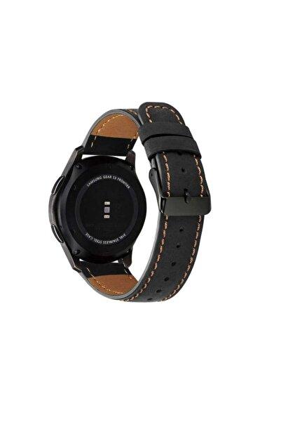 Huawei Watch Gt/gt2/gt2 Pro Uyumlu Leather Design Dikişli Kordon 46mm