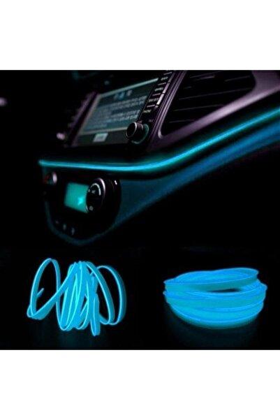 EROĞLU Torpido Led Ip Neon Işıklı Dekoratif Buz Mavisi 2 Metre