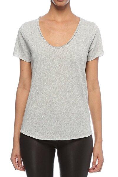 BASIC&CO Kadın Gri T-Shirt URB001