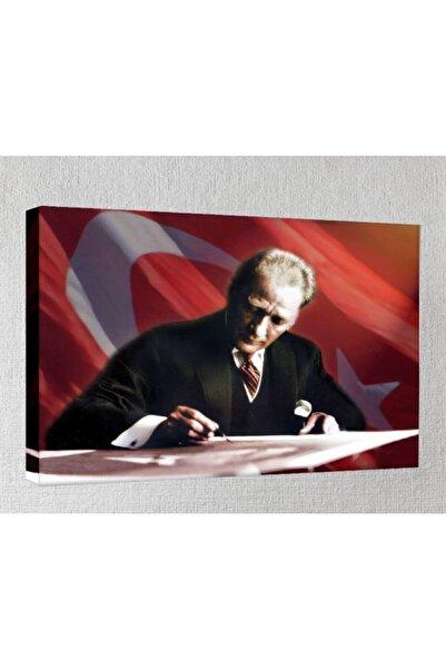 Lukas Kanvas Tablo - 70x100 Cm - Atatürk - Atr09