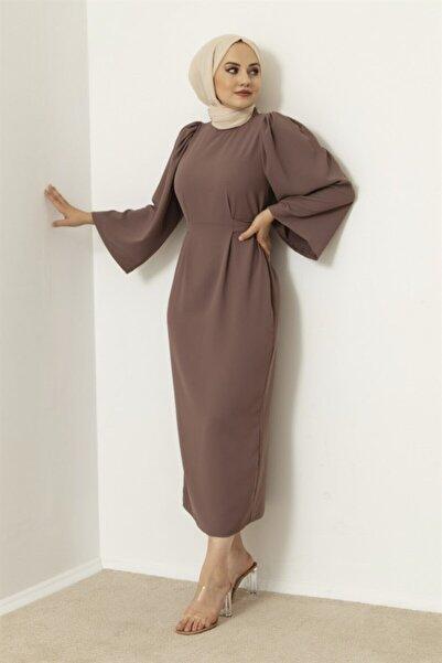 Meri Store Kendinden Kemerli Vişne Çürüğü Elbise