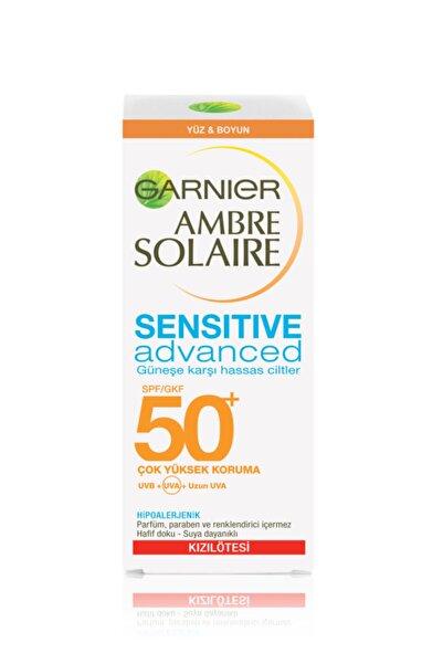 Garnier Ambre Solaire Sensitive Advanced Koruyucu Güneş Yüz Kremi Gkf50 50ml