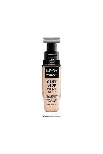 NYX Professional Makeup Fondöten - Can't Stop Won't Stop Full Coverage Foundation 1.3 Light Porcelain 30 ml 800897181147