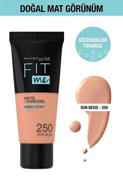 Maybelline New York Fit Me Matte+poreless Fondöten - 250 Sun Beige