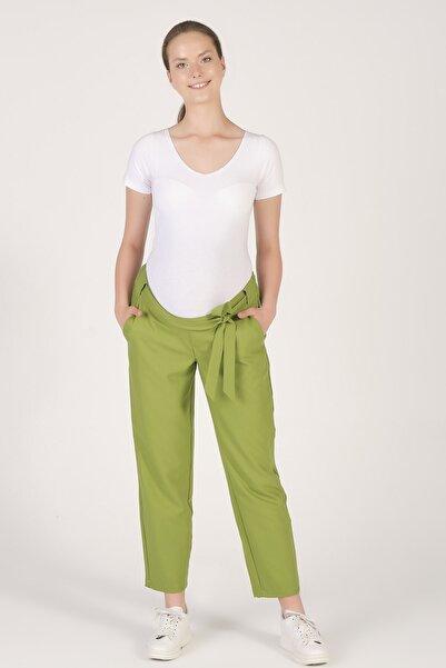 BUSA Hamile Beli Lastikli Havuç Kesim Pantolon Yeşil