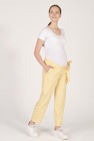 BUSA Hamile Beli Lastikli Havuç Kesim Pantolon Sarı