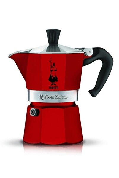Bialetti Kırmızı Moka Pot Express  3 Cups