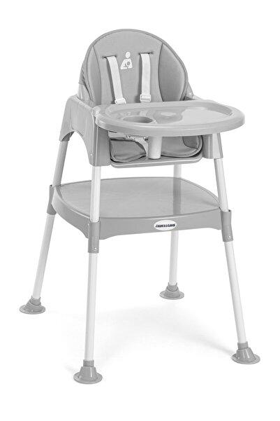 Wellgro Pretty 3in1 Çalışma Masalı Mama Sandalyesi Gri