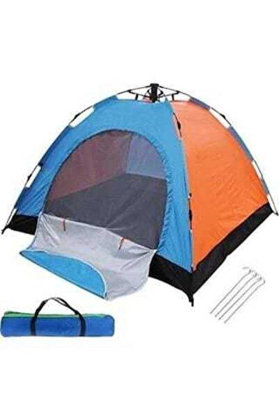 Crown Otomatik Kurulumlu Kaliteli Kamp Çadırı 200x200x140 4 Kişilik
