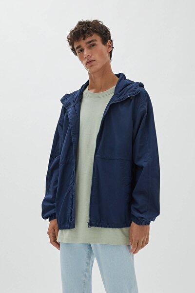 Pull & Bear Kapüşonlu Basic Fitilli Kumaş Ceket