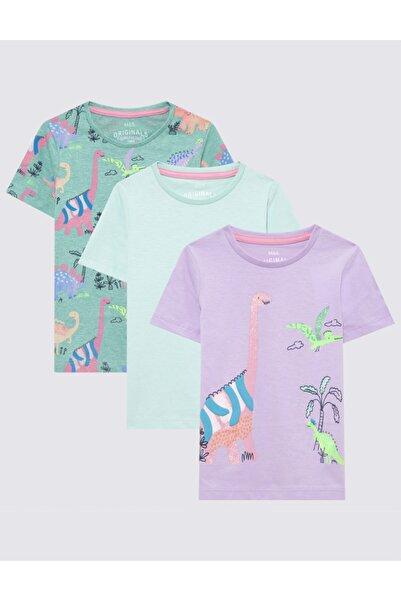 Marks & Spencer 3'lü Dinazor Desenli T-shirt Seti