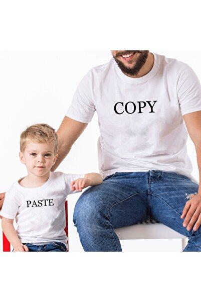 Coutoo Babalar Günü Özel Copy Paste Baba Oğul-kız Kombin T-shirt