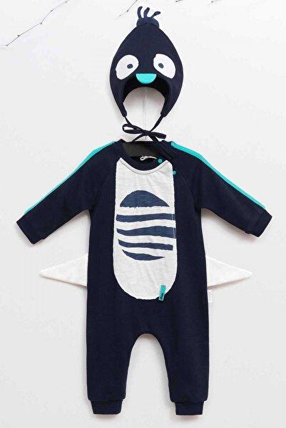 Wogi Erkek Bebek Şapkalı Tulum 3-24 Ay Wg5325
