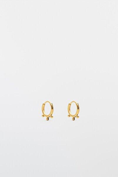 Massimo Dutti Kadın Gold Plated Water Proof Earrings 04605881
