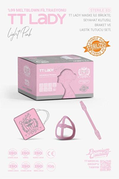 TTMedical 50'li Pudra %99 BFE Kadınlara Özel Yüz Maskesi+Konfor Kiti+Maske Kutusu+Takma Aparatı