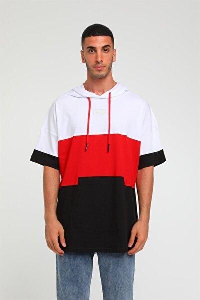 Rocqerx R-5183 Kanguru Cepli 3 Parça Renkli Kapüşonlu T-shirt