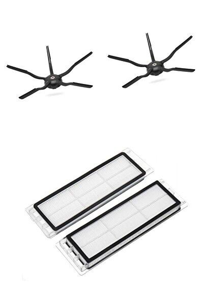 Roborock S5 S5 Max S6 S6 Pure Uyumlu Yeni Nesil Hepa Filtre 5 Kollu Yan Fırça Set