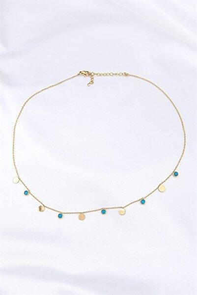 Lydia Jewelry Mavi Damla Taşlı Kolye
