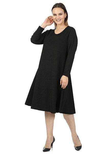 Moday Kadın Siyah Kloş Elbise 34d-1421