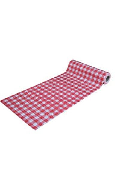 Tek Kullanımlık Masa Ve Aktivite Örtüsü 1rulo 10 Adet- 120x150 Cm - Kırmızı Kareli