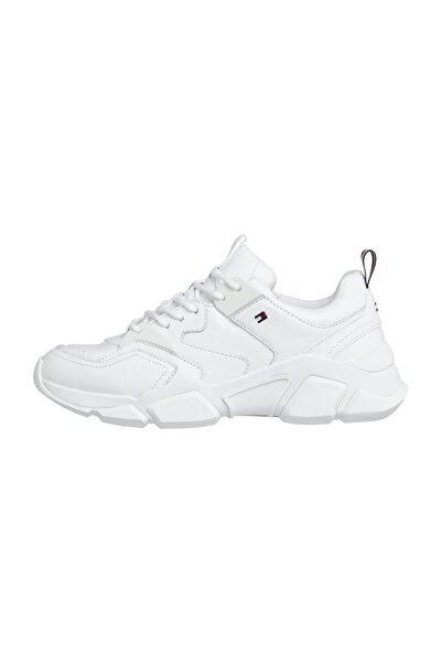 Tommy Hilfiger Kadın Beyaz Sneaker Chunky Classic Tommy Sneaker FW0FW05017