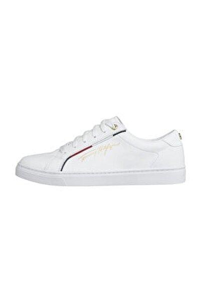 Kadın Beyaz Sneaker Tommy Hılfıger Sıgnature Sneaker FW0FW05015