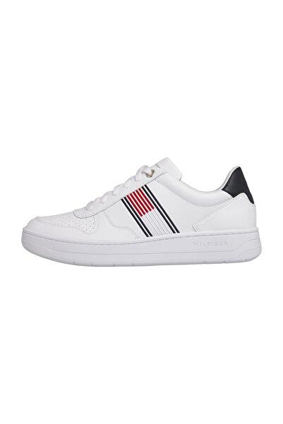 Tommy Hilfiger Erkek Beyaz Sneaker Basket Low Cupsole Sneaker FM0FM02843