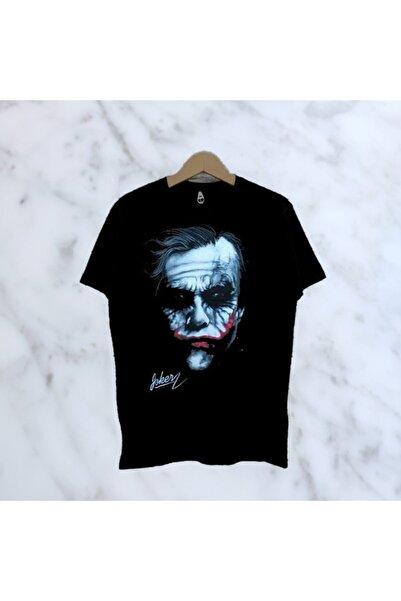 Orçun Özkarlıklı Unisex Siyah Oversize Joker Imza Baskılı T-shirt