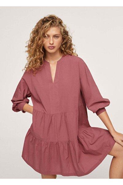 MANGO Woman Fırfırlı Kısa Elbise