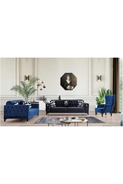 inmobiland Elegance Maviş Chester Koltuk Takımı Özel Üretimden