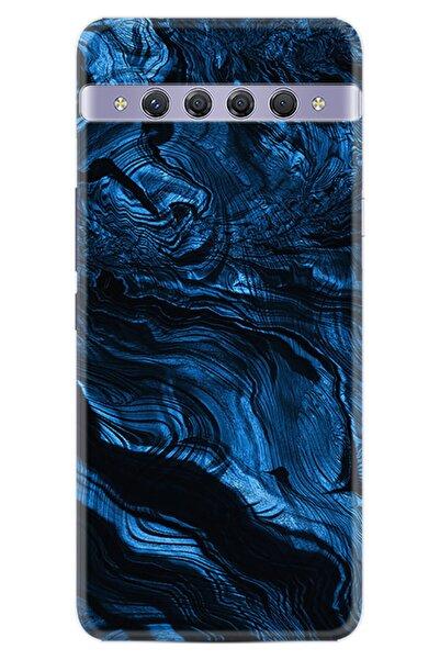 TCL 10 Plus Kılıf Desenli Silikon Kılıf Blue Marble 1379