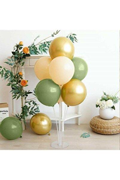 partisüs Balon Standı Küf Yeşili Gold Krem