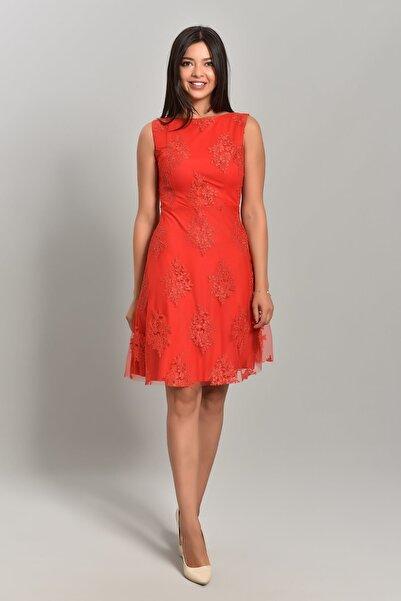Modakapimda Kırmızı Tasarım Elbise