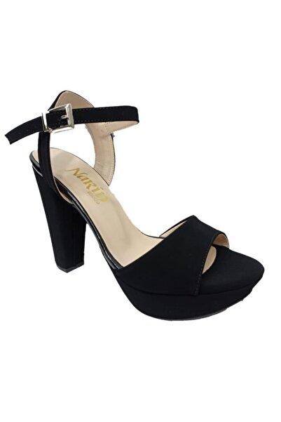 Narin Kadın Siyah Platform Topuklu Sandalet