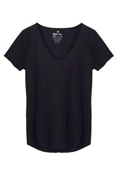 Kadın Siyah T-Shirt URB001