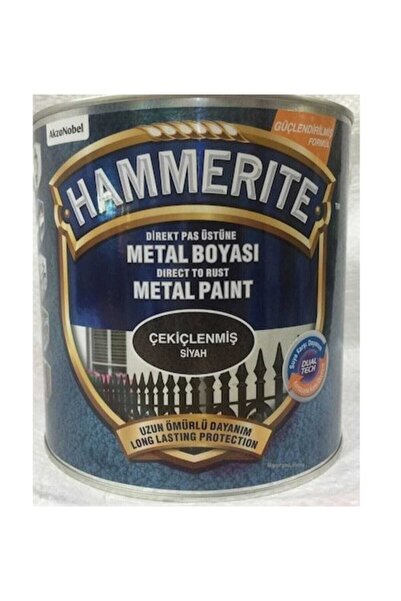 Marshall Hammerite Direkt Pas Üstü Çekiçlenmiş Metal Boyası Siyah 0.75 Lt