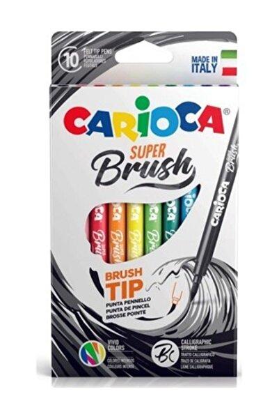 CARIOCA Süper Brush Fırça Uçlu Keçeli Boya Kalemi 10lu
