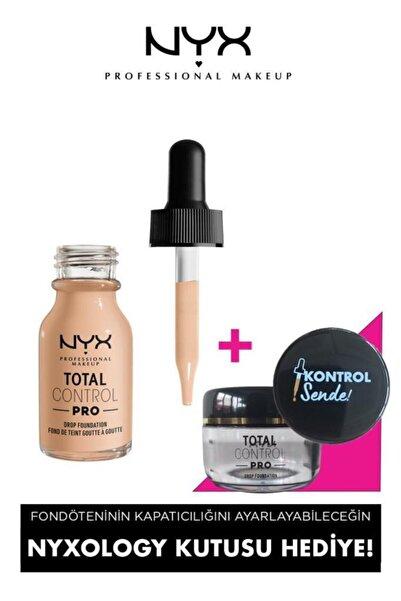 NYX Professional Makeup Total Control Pro Drop Foundation Vanilla - Fondöten & Nyxology Kutusu 8008972068574