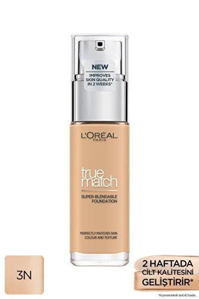 L'Oreal Paris L'oréal Paris True Match Bakım Yapan Fondöten 3n Creamy Beıge