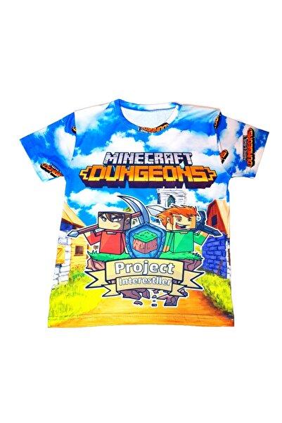 MINECRAFT Dijital Baskılı Çocuk T-shirt