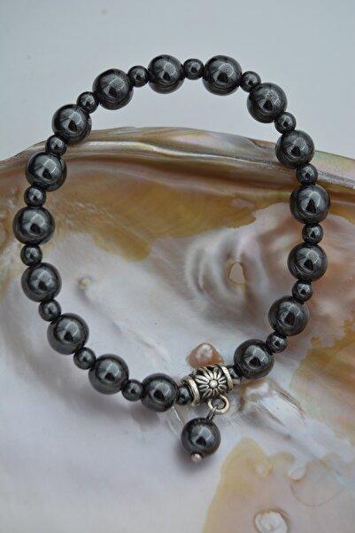 Stoneage Jewellery Hematit Doğal Taşlı Unisex Bileklik
