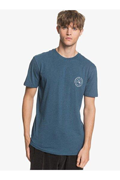 Quiksilver Erkek Mavi Bisiklet Rollingonss Arka Baskılı Tişört