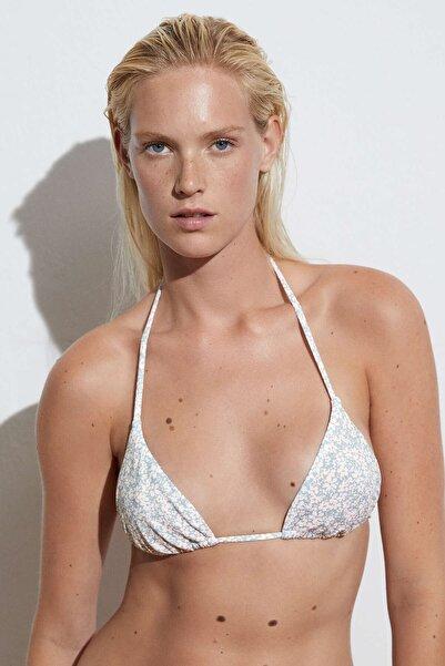 Oysho Minik Çiçekli Üçgen Bikini