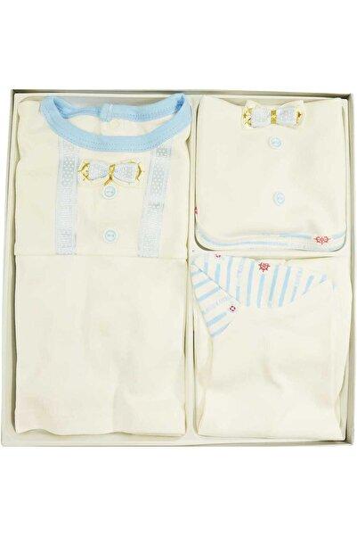 Nenny Baby Erkek Bebek Hastane Çıkışı Yenidoğan Seti 5li Nennybaby 731 Mavi